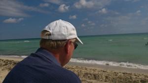 Beachen i Miami Beach