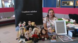 Nathalie Sjögren hade med både I nattens mörker och fina tovade dockor. Kommer att vara med i Steam Punk sagor.